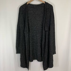 AB Studio open front cardigan sweater / Large